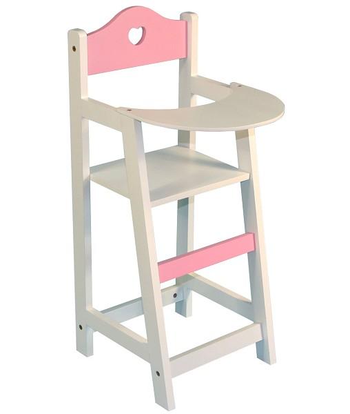 Kinderstoel Wit Hout.Poppen Kinderstoel Hout Wit Met Hart